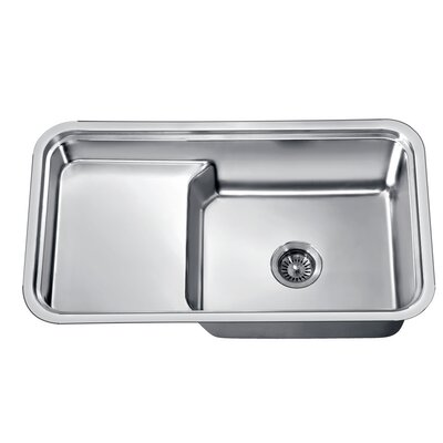 "33"" L x 18.5"" W Under Mount Single Bowl Kitchen Sink"