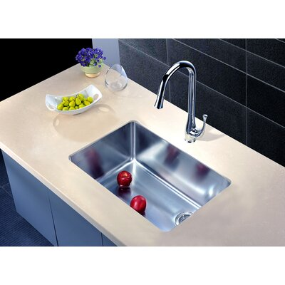 "26.5"" L x 18"" W Under Mount Single Bowl Kitchen Sink"