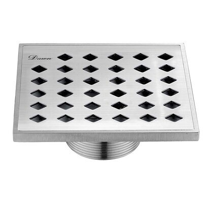 "Mississippi River 2.31"" Grid Shower Drain"