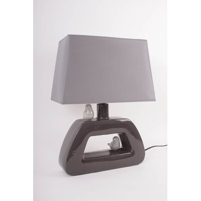 House Additions 2 Birds Trapezium 47cm Table Lamp