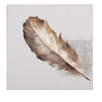 House Additions Feather Art Print on Canvas