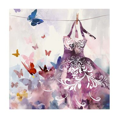 House Additions Dress Butterflies Art Print on Canvas