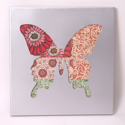 House Additions Excavated Patchwork Butterfly Wall Decor