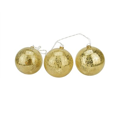Lighted Mercury Ball Christmas Ornament Color: Gold