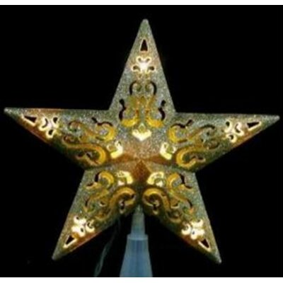 LED Lighted Cutout 5-Point Star Christmas Tree Topper