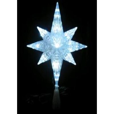 LED Lighted Crystal Bethlehem Star Christmas Tree Topper