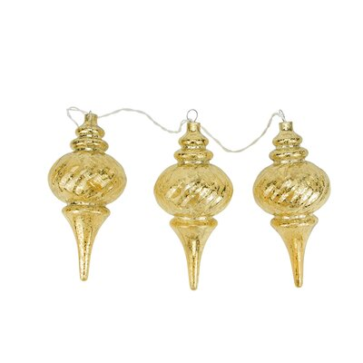 Finial Christmas Ornaments Color: Gold