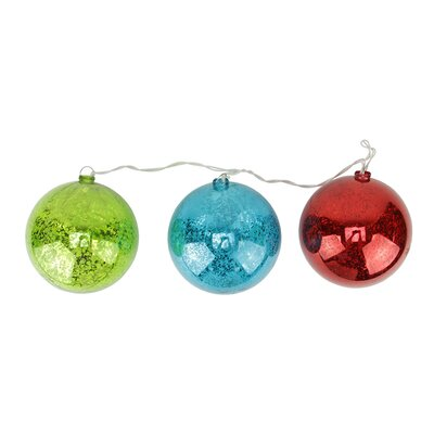 3 Light Ball Christmas Ornament Light String