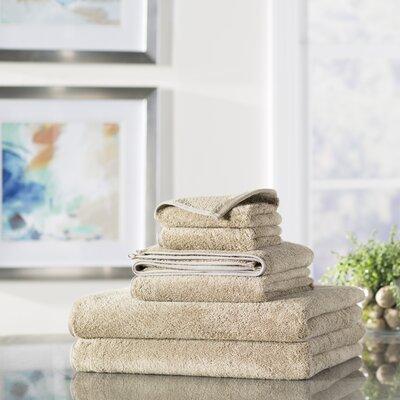 Croft 6 Piece 100% Cotton Towel Set Color: Tan
