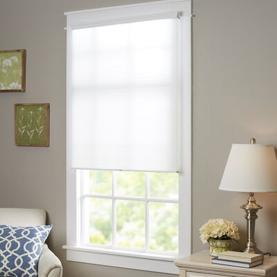 """Wayfair Basics Top-Down Bottom-Up Cordless Honeycomb Cellular Shade Size: 27"""" W x 64"""" L, Color: White"""