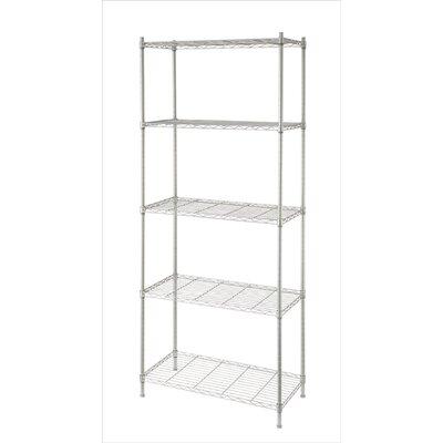 "68"" H Metal Wire Five Shelves Shelving Unit"