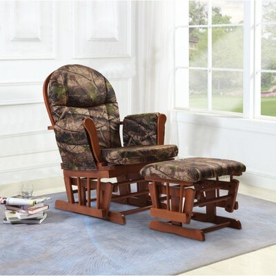 Home Deluxe Camouflage Glider and Ottoman
