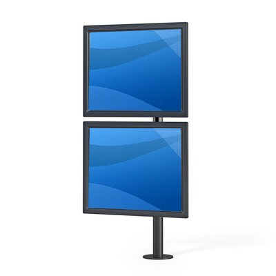 """Dual TV and Monitor Articulating Universal Pole Mount for 28"""" - 32"""" Flat Panel Screens Color: Black"""