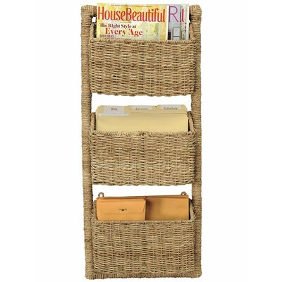 3-Pocket Wall Magazine Rack and Organizer