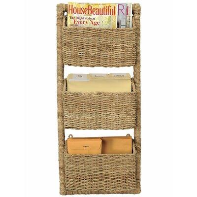 3-Pocket Wall Magazine Rack and Organizer