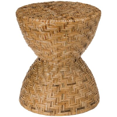 Hour Glass Stool in Woven Rattan Peel