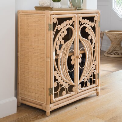 Rosana 2 Door Accent Cabinet Color: Natural