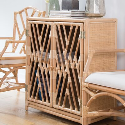 Margrett Rattan Accent Cabinet Color: Natural