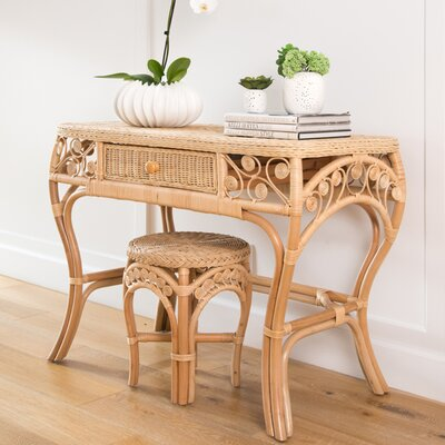 Rosana Rattan Console Table Color: Natural