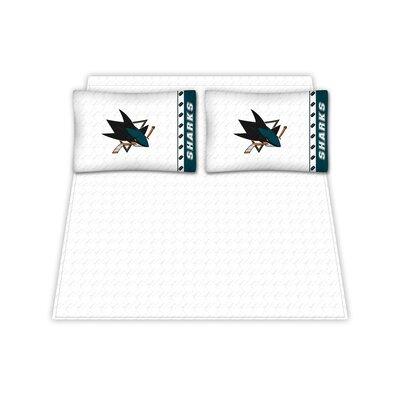 Sports Coverage Inc. NHL San Jose Sharks Microfiber Sheet Set