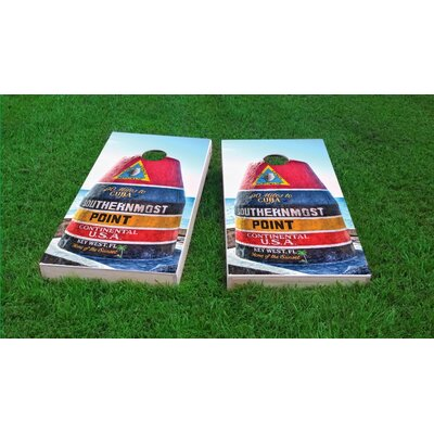 Southernmost Point Cornhole Game Set Bag Fill: All Weather Plastic Resin