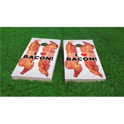 I Love Bacon Light Weight Cornhole Game Set Bag Fill: Whole Kernel Corn