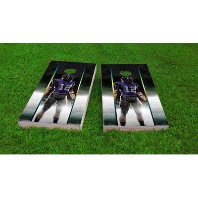 """Football Player Cornhole Game Bag Fill: All Weather Plastic Resin, Size: 48"""" H x 12"""" W"""