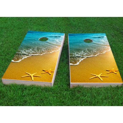 """Star Fish Cornhole Game Bag Fill: All Weather Plastic Resin, Size: 48"""" H x 12"""" W"""
