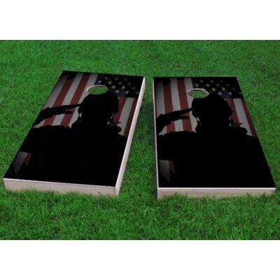 """Veterans Salute Cornhole Game Size: 48"""" H x 24"""" W, Bag Fill: Whole Kernel Corn"""