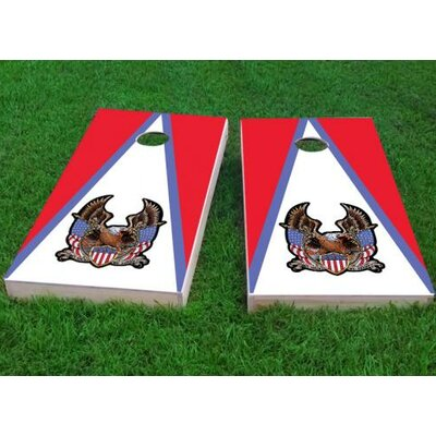 "Bald Eagle ""In God We Trust"" Cornhole Game Bag Fill: Whole Kernel Corn, Size: 48"" H x 24"" W"