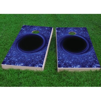 """Black Hole Cornhole Game Bag Fill: All Weather Plastic Resin, Size: 48"""" H x 12"""" W"""