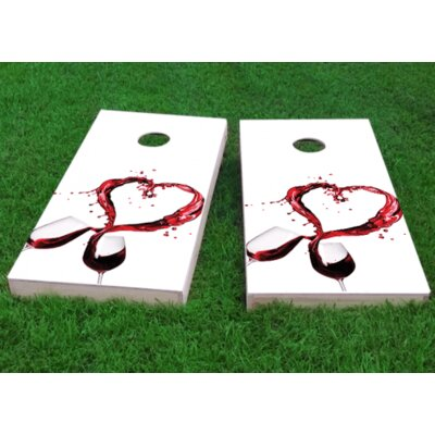 """Wine Lover Cornhole Game Size: 48"""" H x 24"""" W, Bag Fill: All Weather Plastic Resin"""