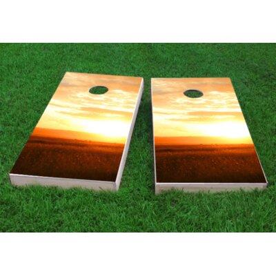 "Sunset Cornhole Game Bag Fill: Whole Kernel Corn, Size: 48"" H x 12"" W"