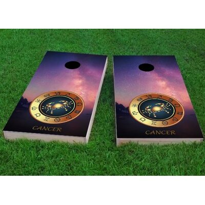 """Zodiac Stars Cancer Themed Cornhole Game Size: 48"""" H x 24"""" W, Bag Fill: All Weather Plastic Resin"""
