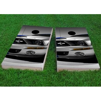 """Ford Mustang Front End Cornhole Game Size: 48"""" H x 24"""" W, Bag Fill: All Weather Plastic Resin"""