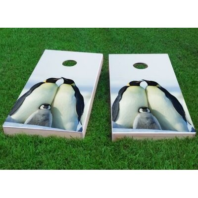 """Penguin Family Cornhole Game Size: 48"""" H x 24"""" W, Bag Fill: All Weather Plastic Resin"""