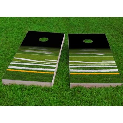 """Football Field Cornhole Game Size: 48"""" H x 24"""" W, Bag Fill: All Weather Plastic Resin"""