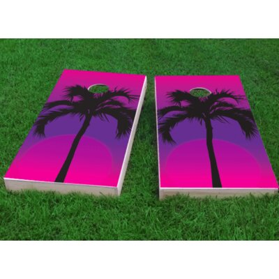 "Palms at Night Cornhole Game Bag Fill: All Weather Plastic Resin, Size: 48"" H x 12"" W"