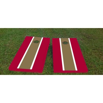 """Florida State University Cornhole Game Color: Maroon/Dark Gold, Bag Fill: All Weather Plastic Resin, Size: 48"""" H x 12"""" W"""