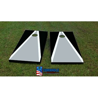 """Oakland Raiders Cornhole Game Bag Fill: All Weather Plastic Resin, Size: 48"""" H x 12"""" W"""