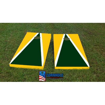 """GB Packers Cornhole Game Size: 48"""" H x 24"""" W, Bag Fill: All Weather Plastic Resin"""