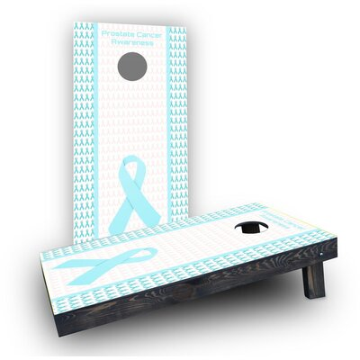 Prostate Cancer Awareness Cornhole Boards Bag Fill: Heavier Boards with Corn Filled Bags/Handles