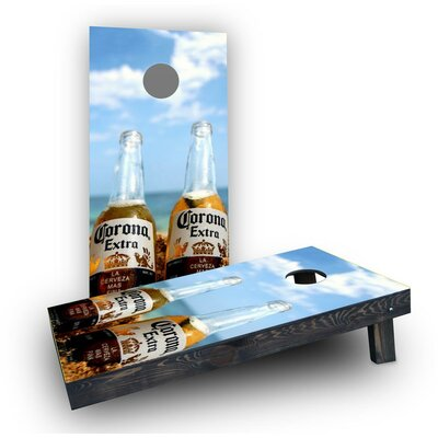 Corona Bottles by the Beach Cornhole Boards Bag Fill: Light Weight Boards with All Weather Bags/Handles