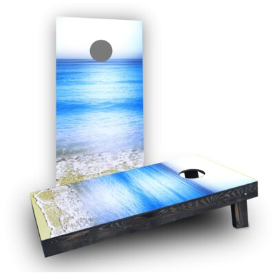Beach Clear Water Cornhole Boards Bag Fill: Heavier Boards with All Weather Bags