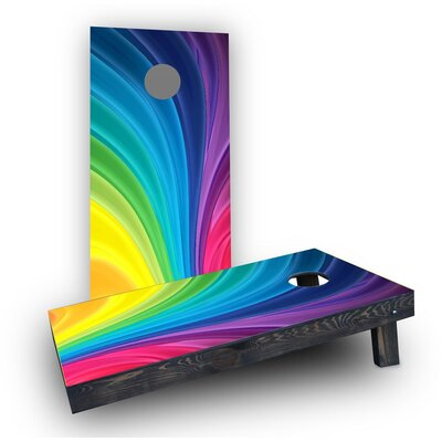 Rainbow Cornhole Boards Bag Fill: Heavier Boards with All Weather Bags