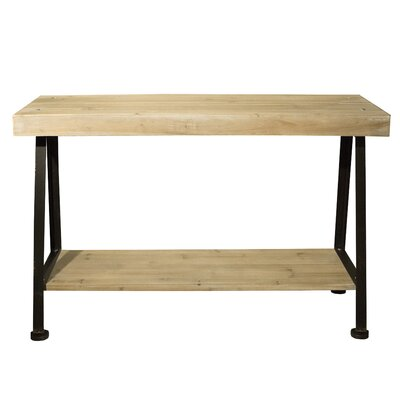 Wooden and Iron Console Table
