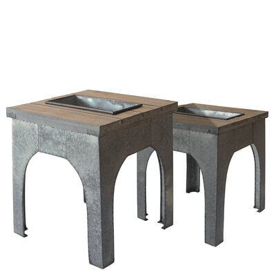 Galvanized Metal Plant Table