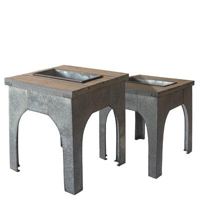 Galvanized Metal Plant Table