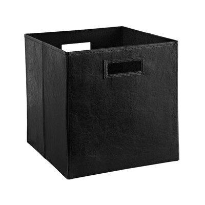 Closetmaid Decorative Storage Faux Leather Bin