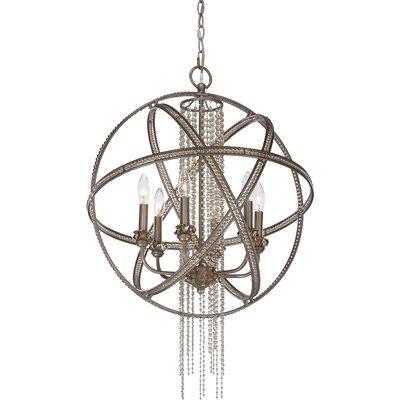 Kelson 6-Light Globe Chandelier Finish: Silver Leaf Burnished